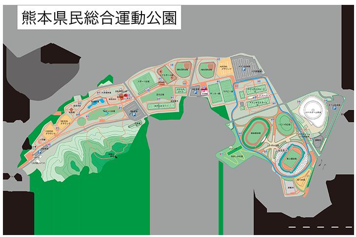 熊本県民総合運動公園エリアマップ