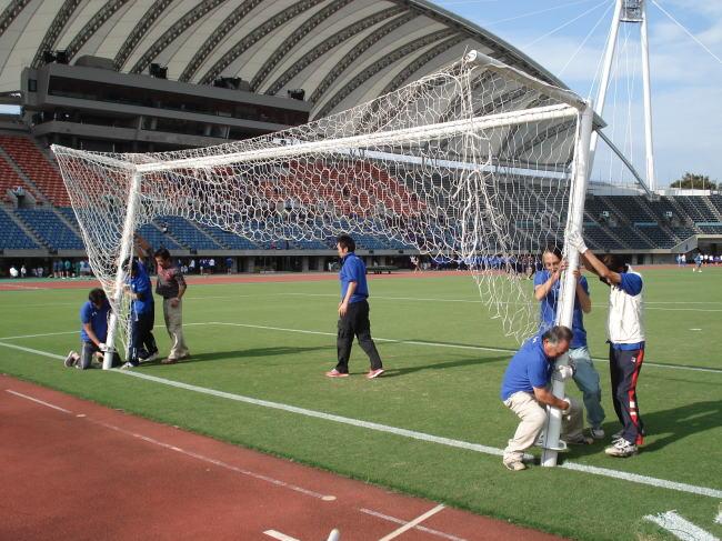 サッカーゴール設置